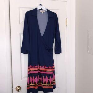 JB by Julie Brown 2X navy blue wrap dress